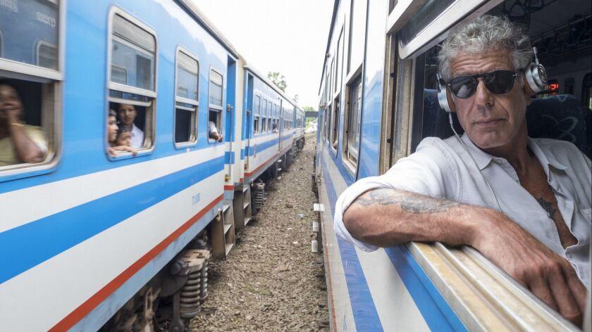 May 25, 2017: Anthony Bourdain rides a train from Colombo, Sri Lanka north to Jaffna, Sri Lanka on M
