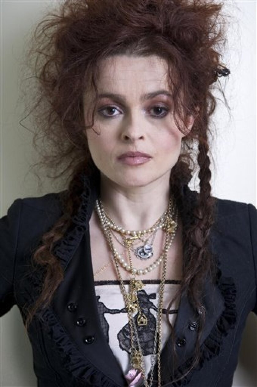 "FILE - In this Feb. 20, 2010 file photo, actress Helena Bonham Carter, from the upcoming film ""Alice in Wonderland"", poses for a portrait at Renaissance Hollywood Hotel in Los Angeles. (AP Photo/Kristian Dowling, file)"