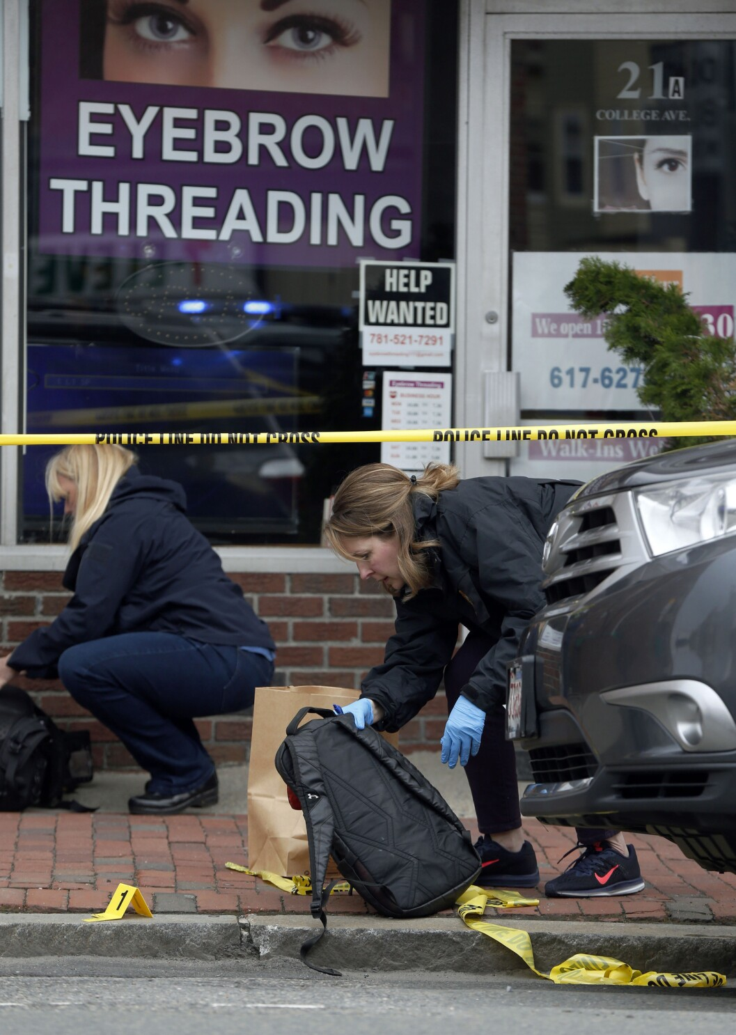 Suspect arrested after bank robbed, shots fired near Boston