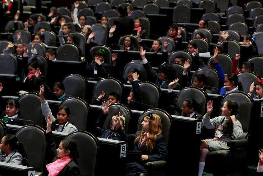 Vista general de la clausura del X Parlamento de las Niñas y Niños de México hoy, viernes 17 de febrero de 2017, en Ciudad de México. EFE
