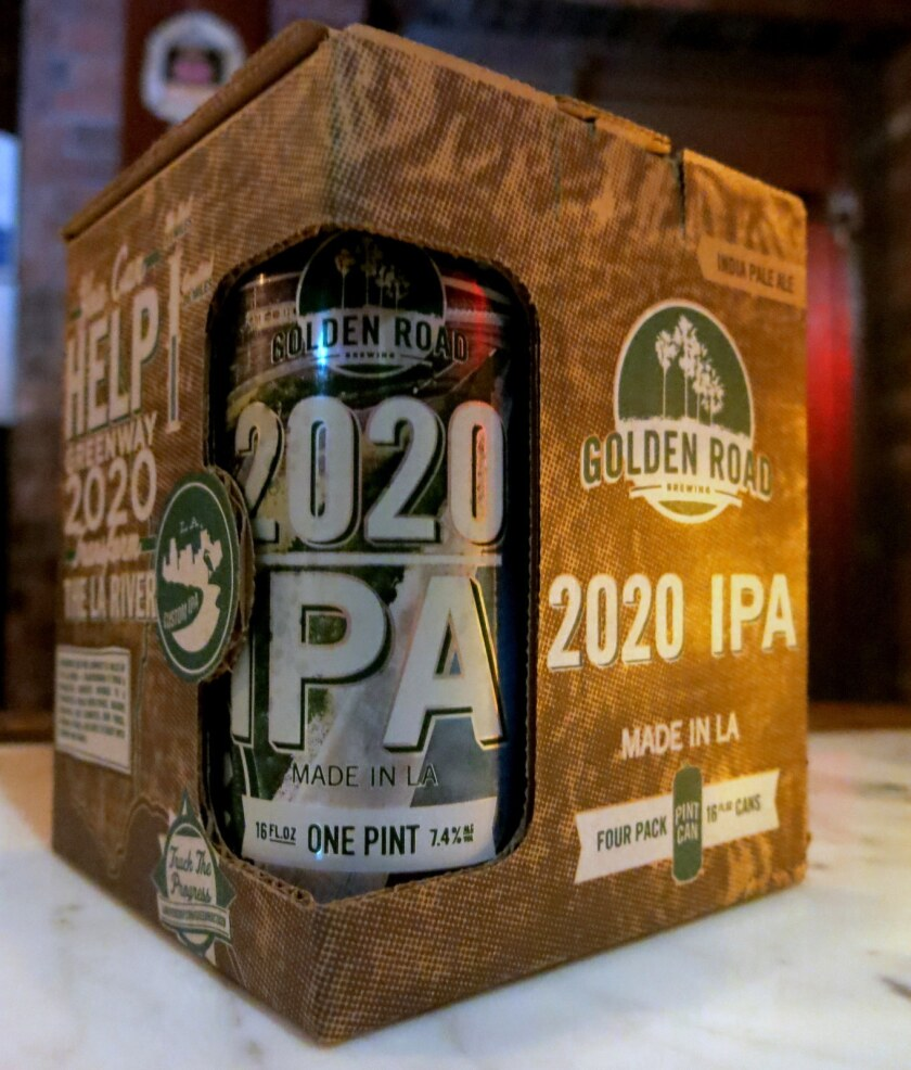 Golden Road Brewing's 2020 IPA was created in collaboration with the L.A. River Revitalization Corp.