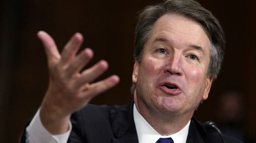 Supreme Court nominee Brett Kavanaugh testifies before the Senate Judiciary Committee on Capitol Hil