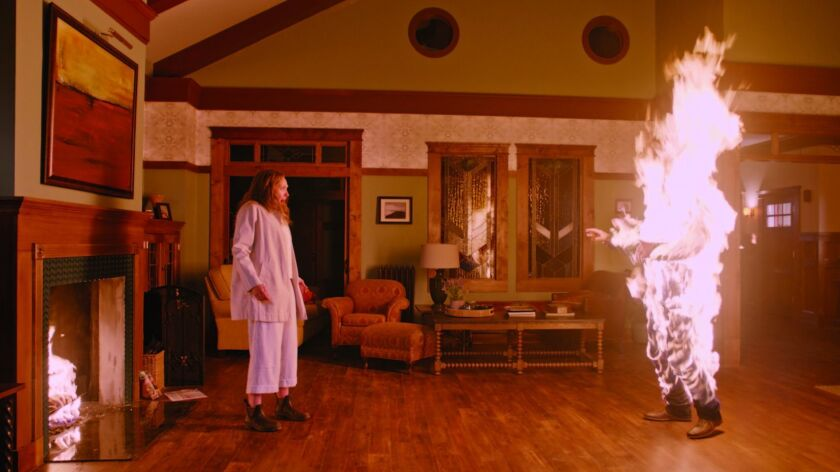 """Toni Collette, left, in a scene from """"Hereditary.' Credit: A24"""