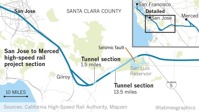 Map Of California High Speed Rail.A 13 5 Mile Tunnel Will Make Or Break California S Bullet Train