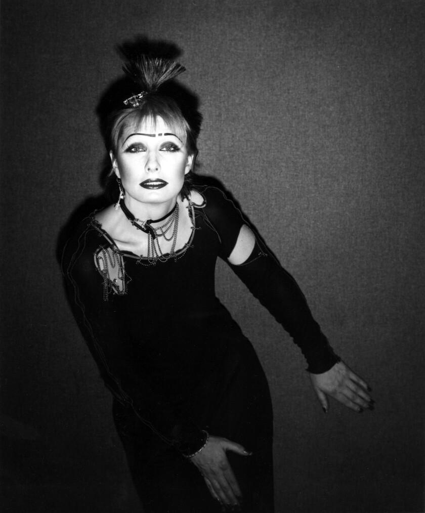 "Designer Zandra Rhodes, the so-called ""Princess of Punk,"" in 1977."