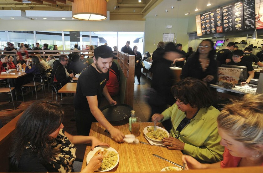 Noodles & Co. said it expects $67.1 million in proceeds if shares are priced in the middle of the range at $14 a share.