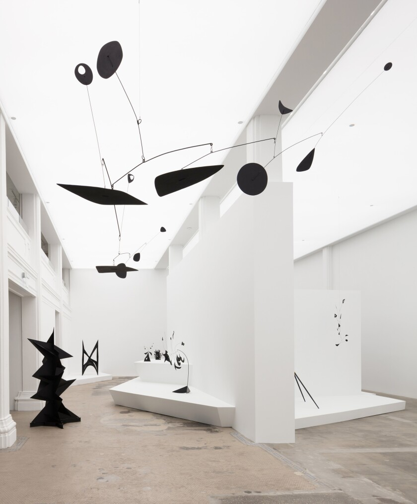 "Installation photo from Hauser & Wirth's Los Angeles ""Calder: Nonspace"" exhibit devoted to renowned artist Alexander Calder."