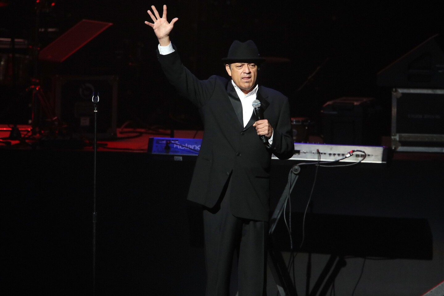 Paul Rodriguez performs onstage during the The Conga Room's 20th Anniversary Salsa Extravaganza at the Microsoft Theater on February 01, 2018 in Los Angeles, CA. (Photo by © Fanny Garcia/DDPixels.com)