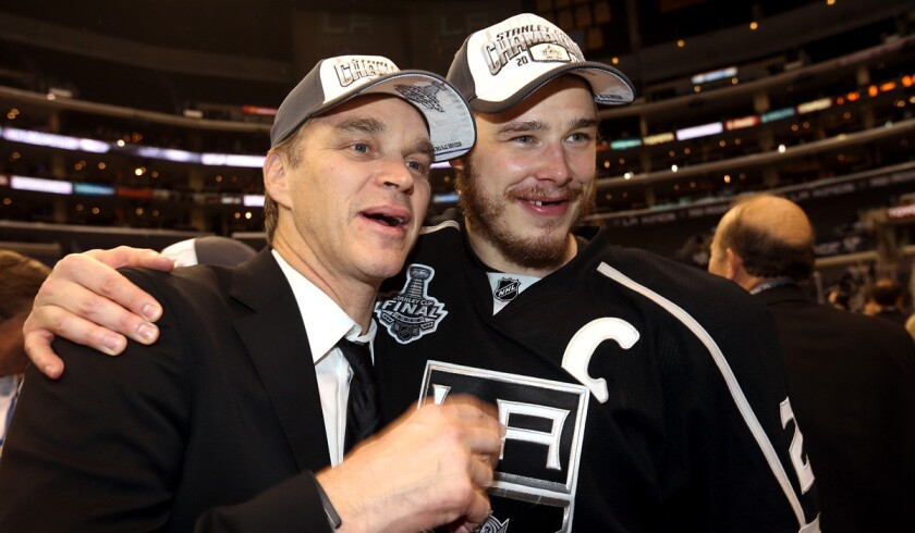 Luc Robitaille, Dustin Brown