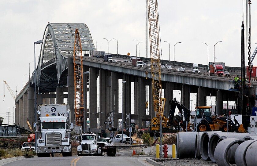 Design issues have delayed the completion of a new bridge to replace the aging Gerald Desmond Bridge.