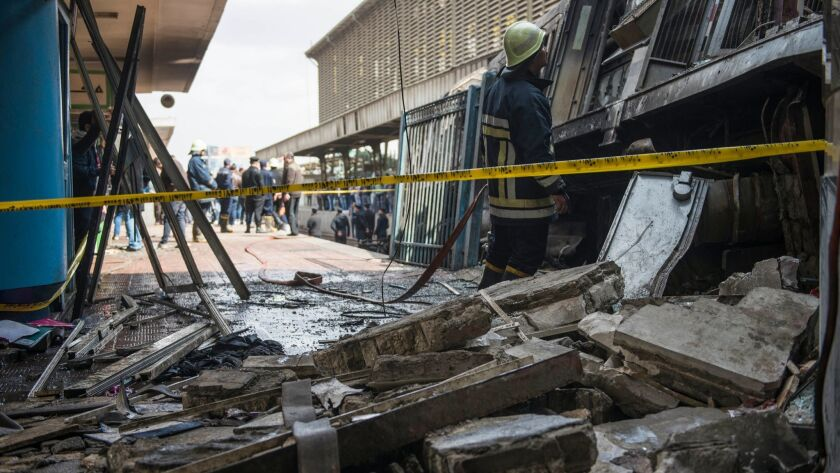 20 killed in fuel explosion at Cairo's main railway station, Egypt - 27 Feb 2019