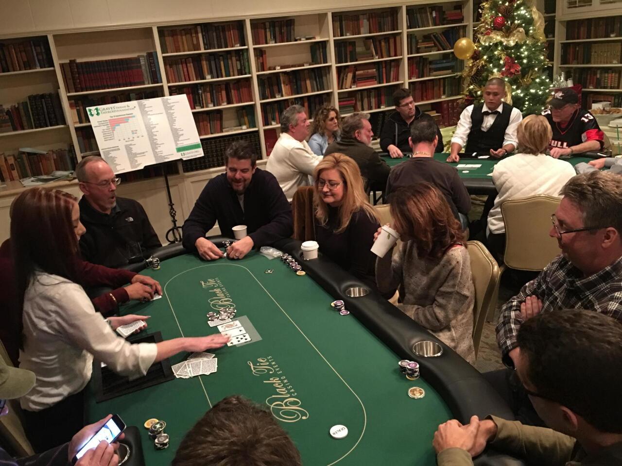 The Rancho Santa Fe Texas Hold'em Invitational Poker Tournament at The Inn at Rancho Santa Fe, benefiting the Graves' Disease and Thyroid Foundation.