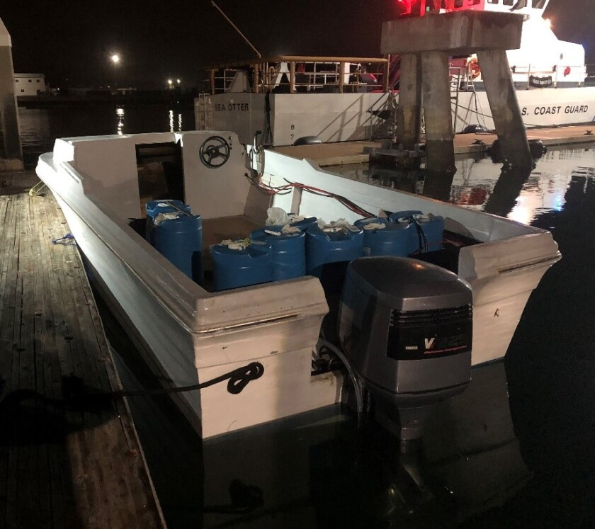 This boat was one of three intercepted by federal agents on Saturday, Sunday and Monday.