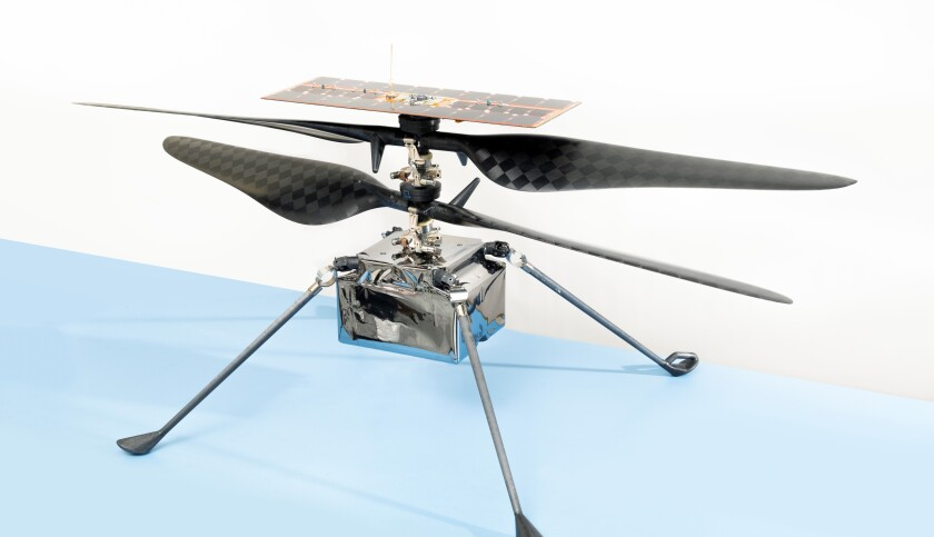 NASA's Ingenuity helicopter is slated to arrive on Mars on Thursday.