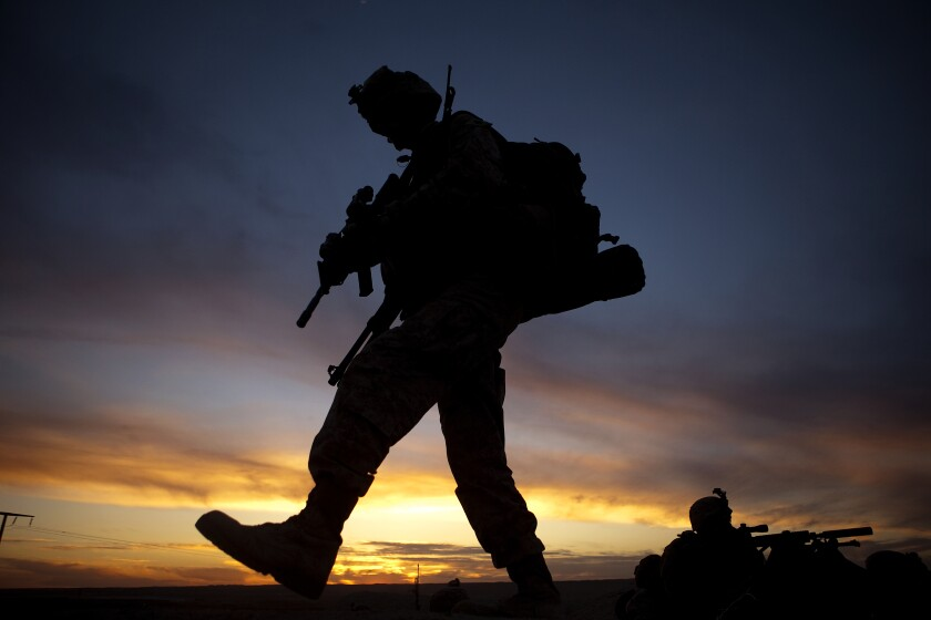 Staff Sgt. Nathan Stocking of the 3rd Battalion, 5th Marines