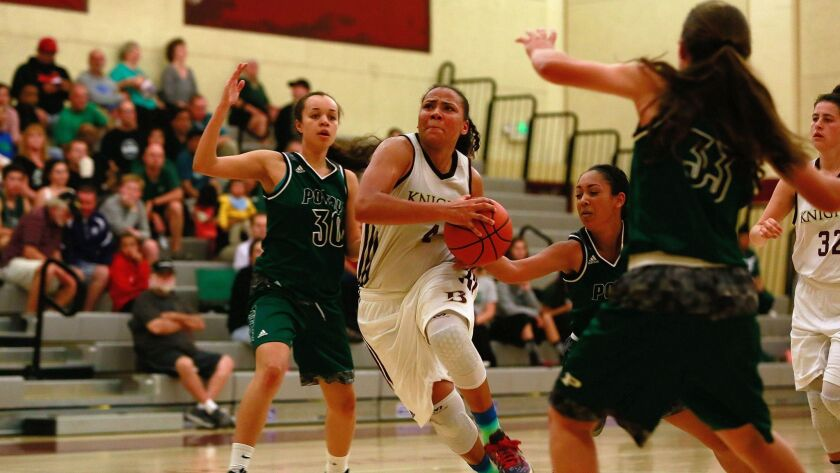 Bishop's Destiny Littleton scored 46 points in the Knights' win over La Jolla Country Day on Friday.