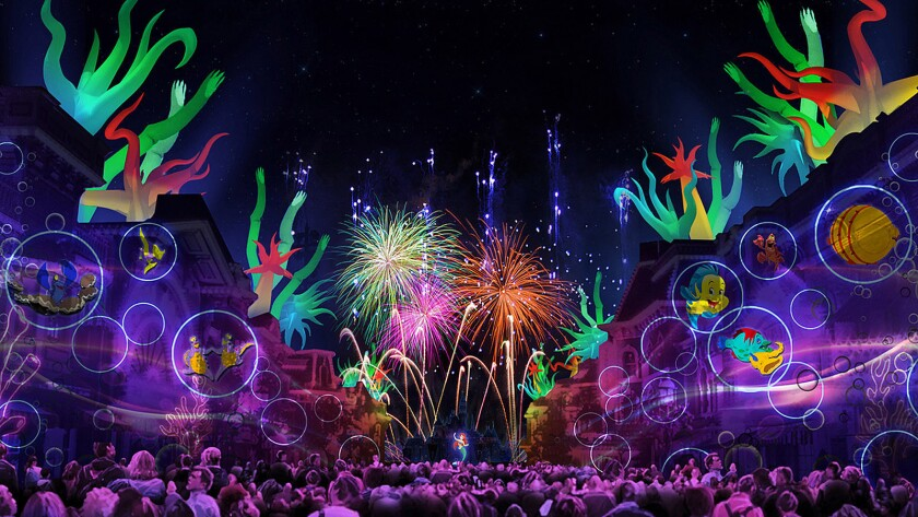 Disneyland's new fireworks show will use the park's architecture -- such as Main Street buildings -- to project animated images.