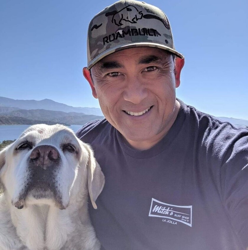 Ray Hivoral and his Labrador retriever, Jack, during their 2018 travels.
