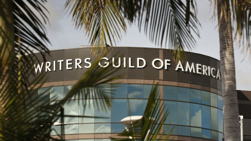 The Writers Guild of America is suing Hollywood's four largest talent agencies over the decades-old practice of packaging fees.
