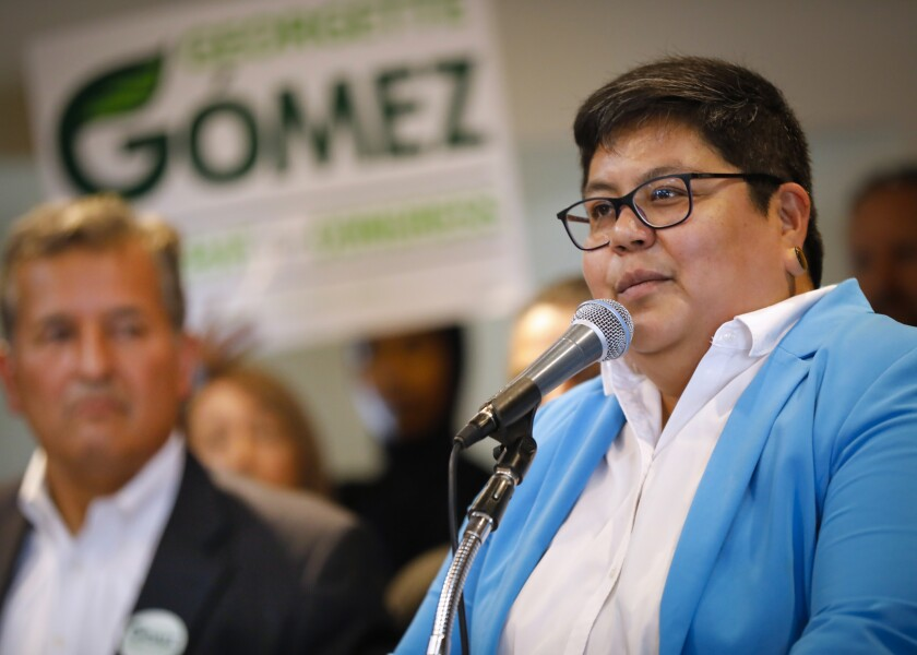 San Diego City Councilwoman Georgette Gómez, a Democrat, was elected to a second one-year term as council president.
