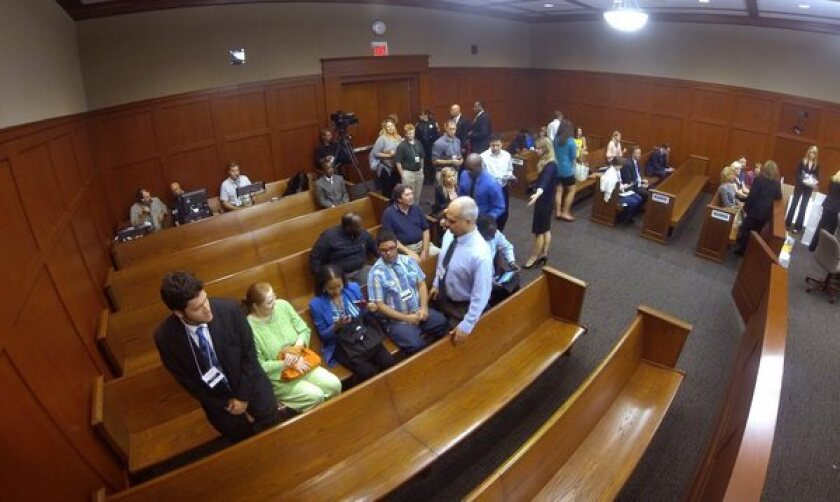 The courtroom on the 24th day of the George Zimmerman trial.