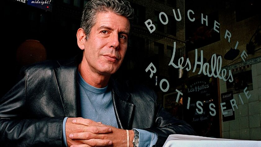 Anthony Bourdain, in 2001, when he was executive chef at Les Halles in New York City.