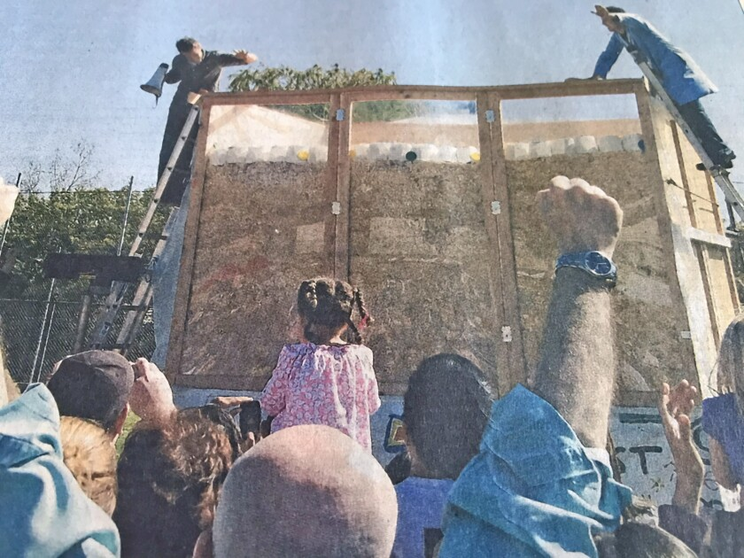 A world-record Rice Krispies Treat was unveiled March 14, 2010 on the Community Center of La Cañada Flintridge field. The 12-foot tall treat weighed 10,460 pounds, shattering the previous record of 2,500 pounds.