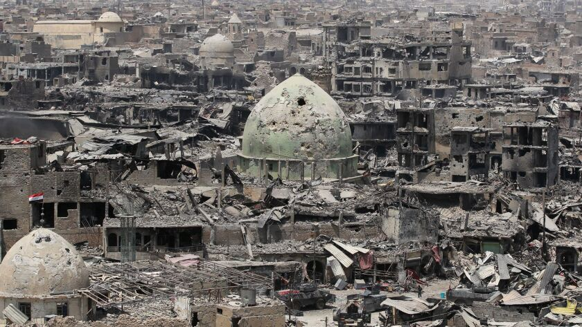 The ruins of Mosul's Old City on July 9, 2017.