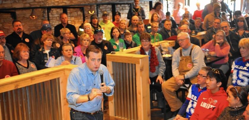 GOP Presidential Candidate Ted Cruz Campaigns In Iowa