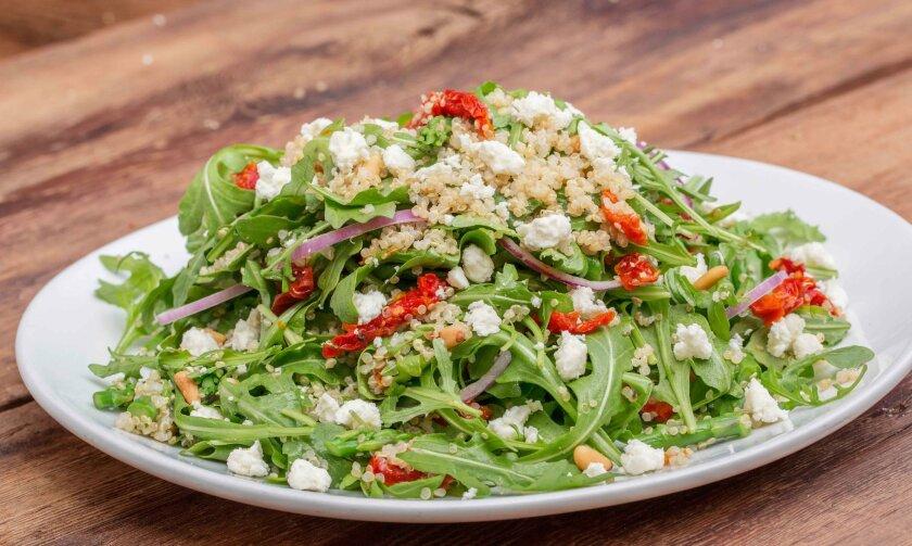 California Pizza Kitchen's Quinoa & Arugula Salad.