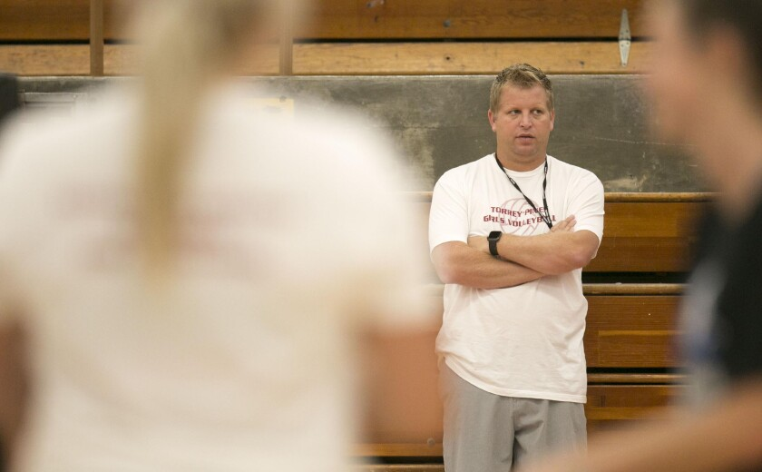 Coach Brennan Dean's Torrey Pines girls volleyball team is seeded No. 1 in the Open Division.