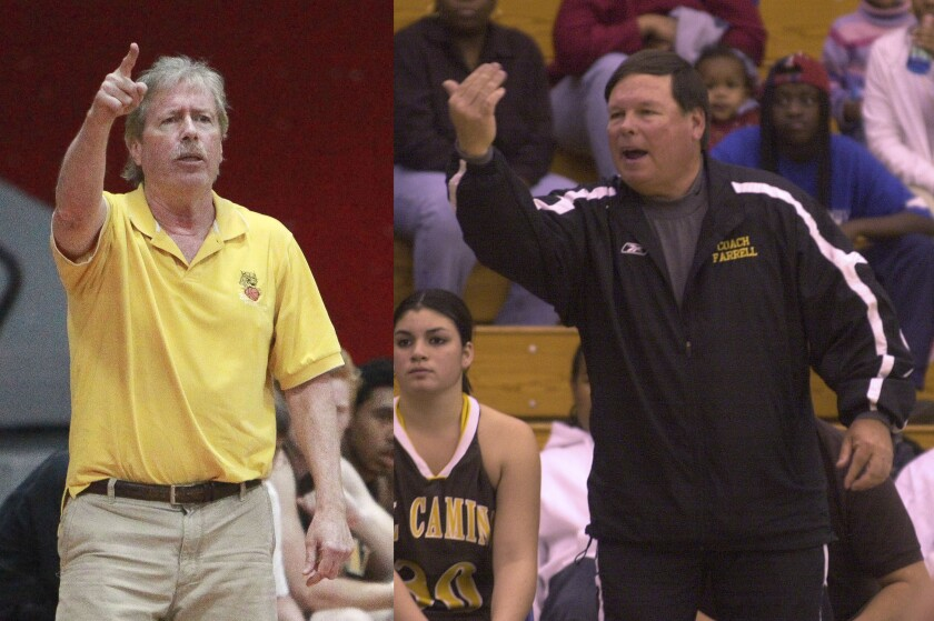 Ray Johnson (left) won 10 San Diego Section titles, while John Farrell (right) won six section crowns.