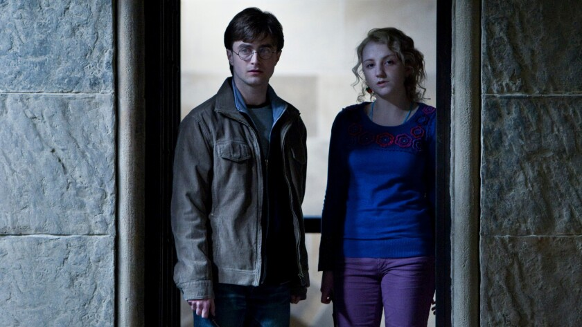 """Daniel Radcliffe and Evanna Lynch in """"Harry Potter and the Deathly Hallows Part 2."""""""