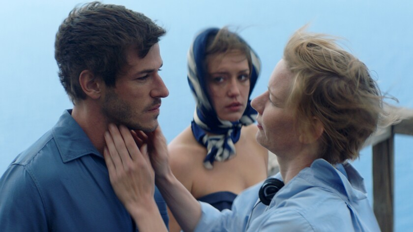 "Gaspard Ulliel, left, Adèle Exarchopoulos and Sandra Hüller in the movie ""Sibyl."""