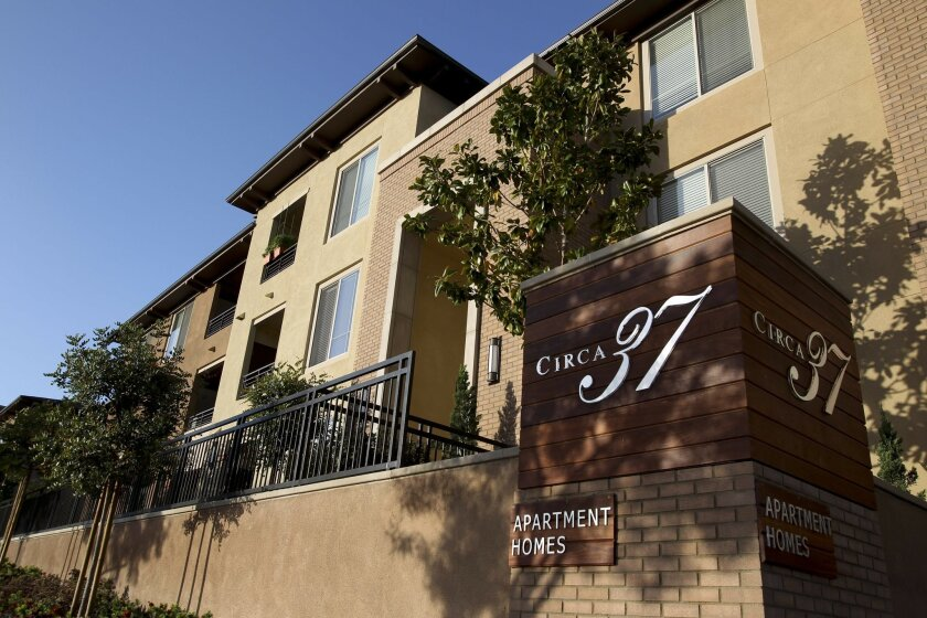 Circa 37 Apartments, in Mission Valley, is among the new projects in San Diego County. More property managers and owners are considering hiking rents as a result of a slowly mending economy, rental experts say.