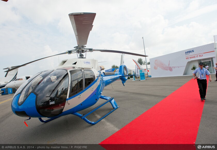 An Airbus helicopter making its debut at the Singapore Airshow in 2014. Uber and Airbus are partnering to offer chopper rides to the Sundance Film Festival.