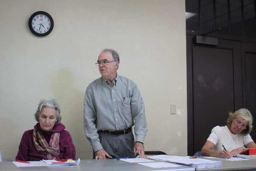 La Jolla Parks & Beaches chair Dan Allen (standing) with board members Melinda Merryweather and Ann Dynes