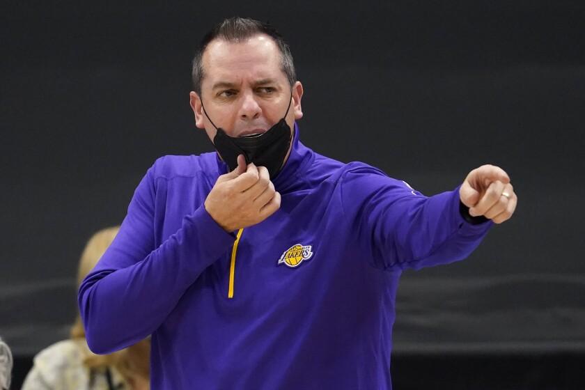 Los Angeles Lakers head coach Frank Vogel