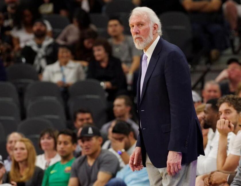 El entrenador de Spurs, Gregg Popovich. EFE/Archivo