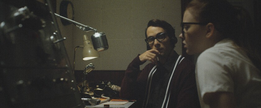 Jake Horowitz, Sierra McCormick in the movie 'The Vast of Night'