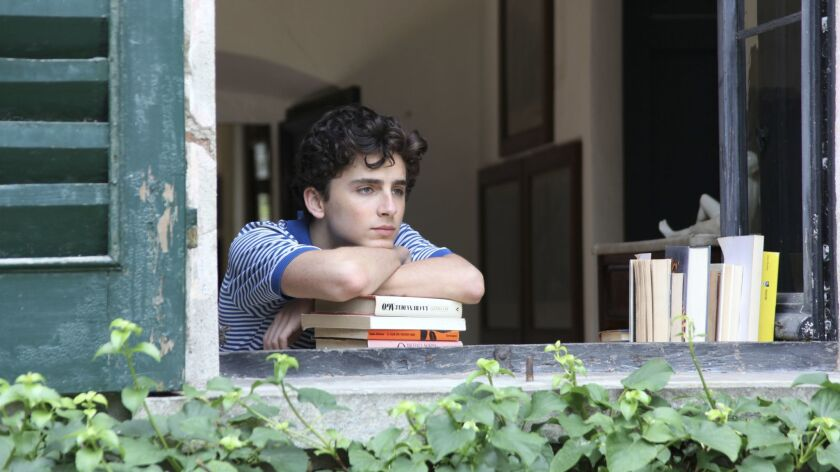"Timothee Chalamet as Elio in a scene from the movie ""Call Me by Your Name."" Credit: Sony Pictures Cl"