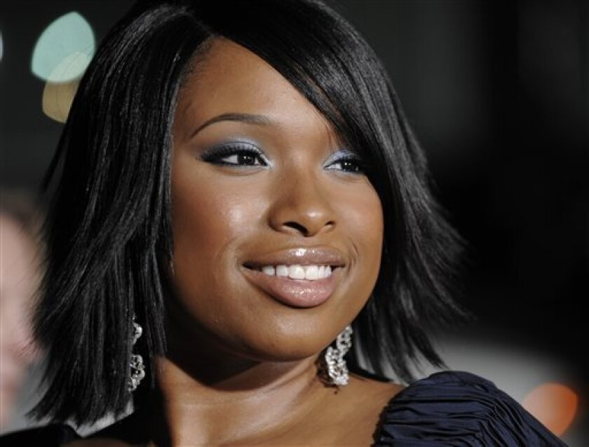 """In this Oct. 6, 2008 file photo, Jennifer Hudson poses at the premiere of the film """"The Secret Life of Bees"""" at the Academy of Motion Picture Arts and Sciences in Beverly Hills, Calif. (AP Photo/Chris Pizzello, file)"""