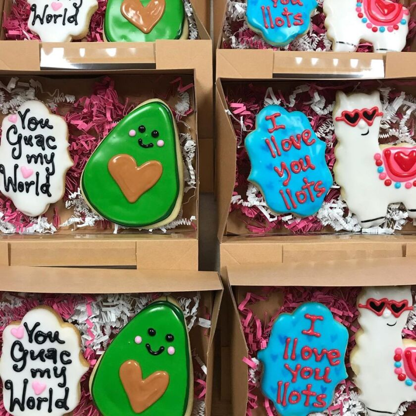 Valentine cookie boxes from VG Donut.
