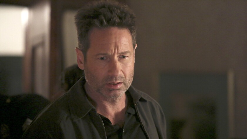 "David Duchovny in the season finale of ""Aquarius"" on NBC."