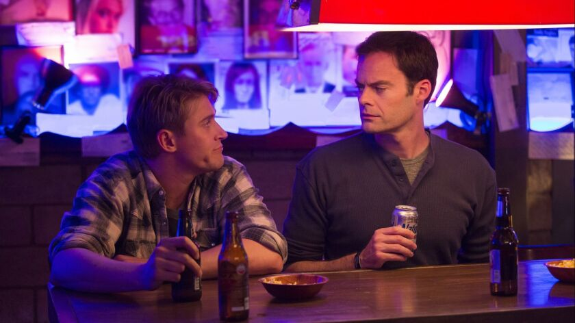 "(L-R) - Tyler Jacob Moore and Bill Hader in a scene from ""Barry."" Credit: John P. Johnson / HBO"