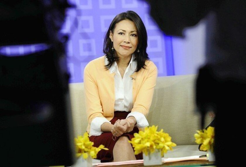 """Ann Curry offers a tearful goodbye as co-host of NBC's """"Today"""" show."""