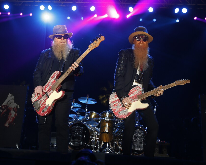 ZZ Top bassist Dusty Hill, left, and guitarist Billy Gibbons