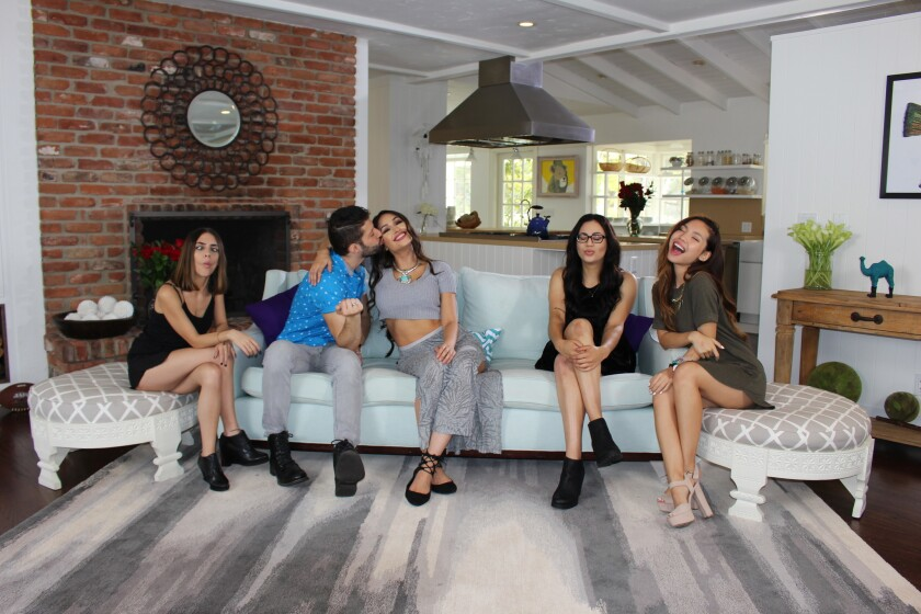 FameBit delved into content development last year with a talk show starring YouTube video creators Raya H, left, RJ Aguilar, Deserey Morales, Kayla Lashae and Tiffany Ma.