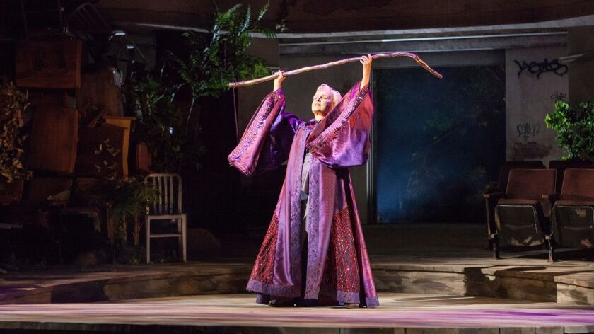 Kate Burton as Prospera in The Tempest, by William Shakespeare, runsJune 17 – July 22, 2018 at The