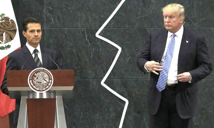 Alta tensión entre los presidentes Enrique Peña Nieto y Donald Trump...
